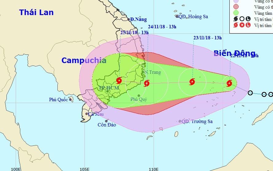 Hình thành bão số 9 trên Biển Đông - Ảnh 1.