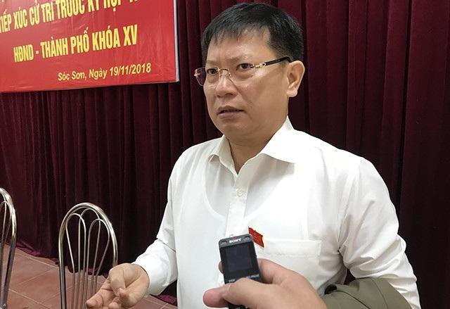 Bí thư huyện ủy Sóc Sơn, ông Phạm Xuân Phương: Bây giờ chỉ làm chuyển đổi mục đích sử dụng đất của phủ Thành Chương thôi, nếu làm được như vậy thì tốt.