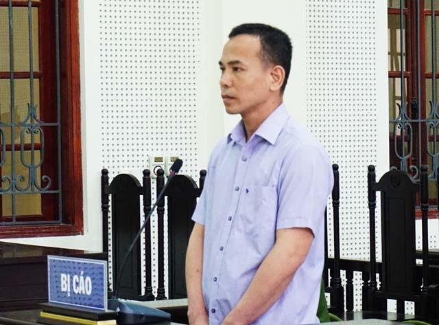 Bị cáo Nguyễn Hữu Ngạn tại phiên tòa