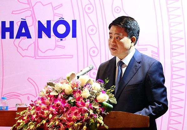 Chủ tịch UBND TP Hà Nội Nguyễn Đức Chung phát biểu tại hội thảo