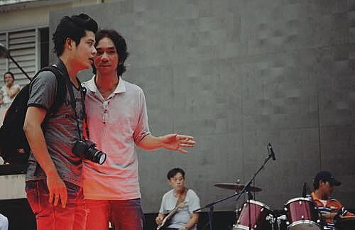 Cặp nhạc sĩ Vũ Quốc Bình - Nguyễn Văn Chung.