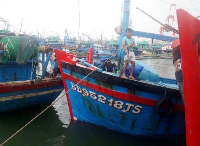 Ngư dân Bình Định chủ động neo đậu tàu thuyền né bão số 9.