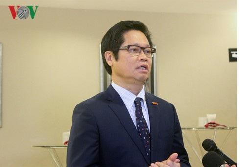 Ông Vũ Tiến Lộc, Chủ tịch VCCI chia sẻ về vấn đề đào tạo nghề.