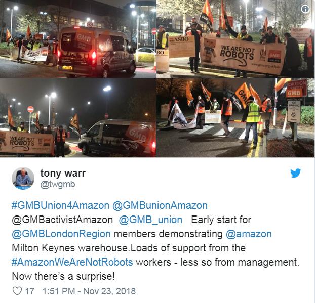 """Nhân viên Amazon biểu tình trong ngày Black Friday: """"Chúng tôi không phải robot !"""" - 5"""