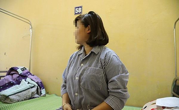 Bệnh nhân đang điều trị tại Viện Sốt rét – Ký sinh trùng – Côn Trùng TƯ. Ảnh: Q.Thái