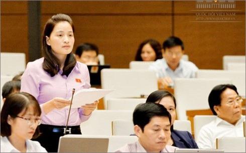 Đại biểu Hứa Thị Hà. (ảnh: quochoi.vn)