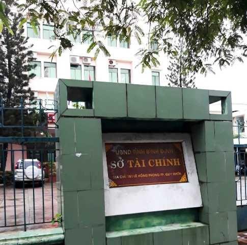 Trụ sở Sở Tài chính Bình Định, nơi ông D. làm việc trước khi treo cổ tại cơ quan này.