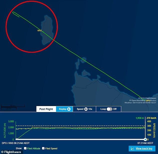 Lộ trình của máy bay (Ảnh: FlightAware)