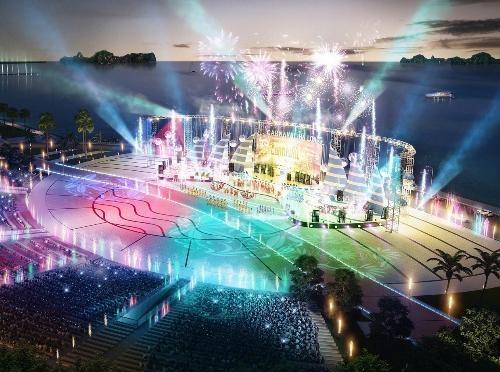 Quảng trường Sun Carnival Plaza rộng 13 hecta sẽ là trung tâm tổ chức các sự kiện văn hóa, lễ hội lớn của Quảng Ninh.