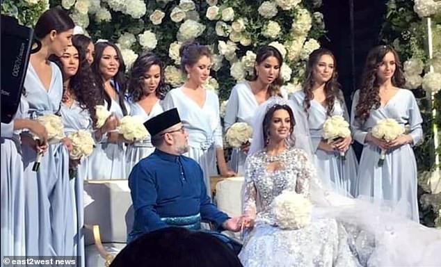 Đám cưới giữa Nhà vua Malaysia và cựu hoa hậu Moscow (Ảnh: East2west)