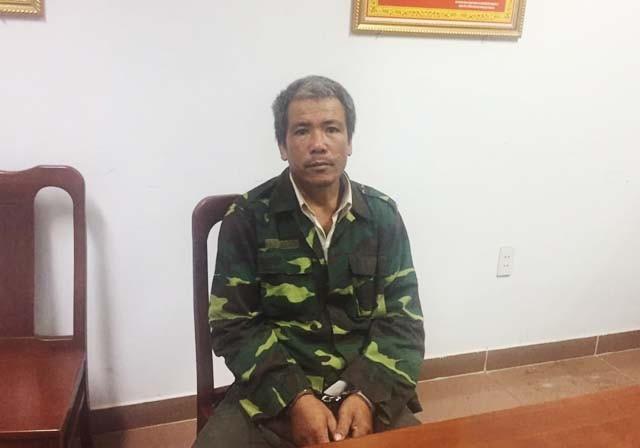 Hoàng Văn Luận thời điểm bị bắt giữ sau 26 năm chạy trốn.