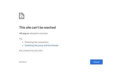 Trang web mua vé trực tuyến của VFF luôn ở tình trạng không truy cập được