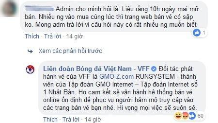VFF đã từng tự tin về hệ thống bán vé trực tuyến của mình