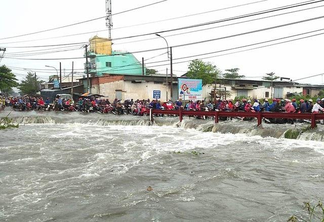 Đoạn kênh mà nam sinh Phùng Phước L. bị cuối trôi (ảnh Đình Thảo)