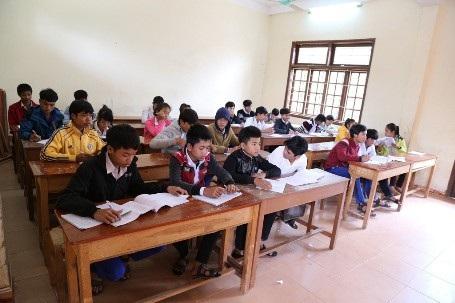 Đối tượng học sinh PTDT nội trú được hỗ trợ học bổng.