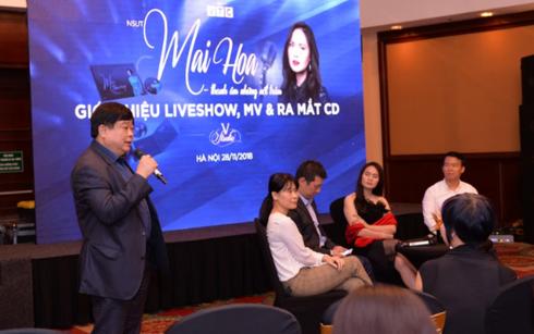 PGS.TS Nguyễn Thế Kỷ phát biểu trong buổi họp báo ra mắt chương trình Mai Hoa - Thanh âm những nốt trầm.