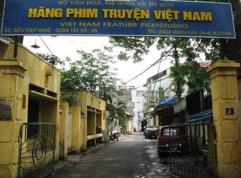 Trụ sở Hãng phim truyện Việt Nam ở số 4 Thuỵ Khuê - Hà Nội. Ảnh: TL.