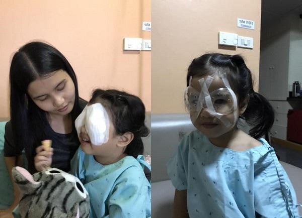 Con gái của Dachar phải phẫu thuật mắt khi mới 4 tuổi vì sử dụng điện thoại di động và máy tính bảng từ sớm trong một thời gian dài