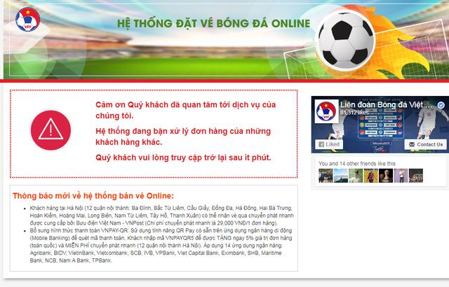 Vé trận đấu giữa Việt Nam và Philippines bán qua online sắp đến tay người mua