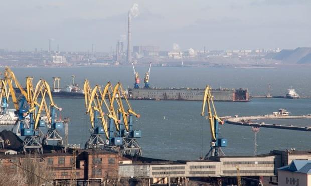 Cảng biển Mariupol. (Ảnh: EPA)