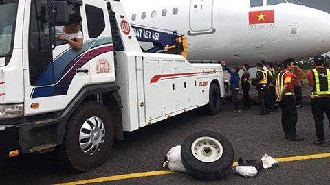 Một chiếc lốp máy bay gặp sự cố đã được tìm thấy