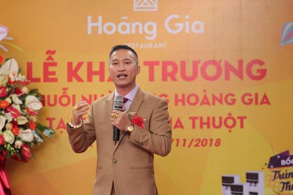 Ông Đỗ Thanh Tâm - Chủ tịch Hội đồng quản trị Tập đoàn Hoàng Gia kiêm phó chủ tịch HDQT Công ty truyền hình thực tế HDTV phát biểu tại buổi lễ.