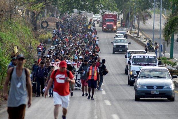 Hàng nghìn người Trung Mỹ tiến về biên giới Mexico-Mỹ. (Ảnh: EPA)