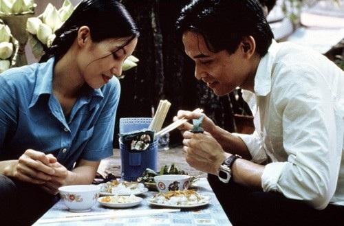 Trần Nữ Yên Khê và Ngô Quang Hải trong phim