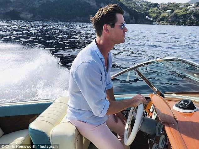 Chris tận hưởng khi quay phim ở Ý