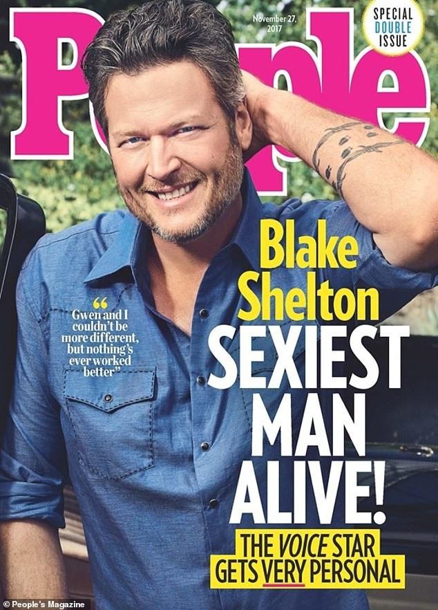 """Năm ngoái, người đàn ông giành danh hiệu """"Sexiest Man Alive"""" là nam ca sĩ Blake Shelton (43 tuổi)"""