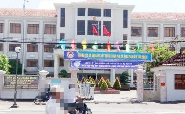 UBND TP Cà Mau (tỉnh Cà Mau)- nơi Thanh tra xác định một số lãnh đạo, nguyên lãnh đạo có vi phạm về quản lý đất đai từ 2014 - 2016. (Ảnh: CTV)