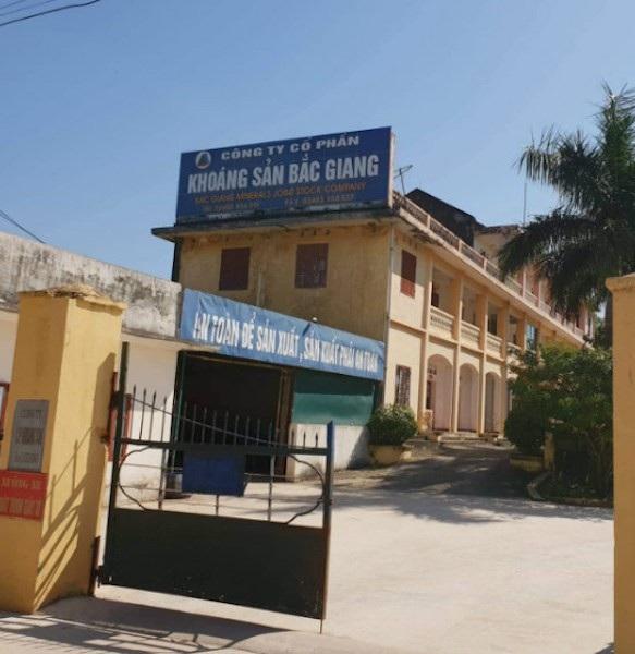 Trụ sở Công ty cổ phần khoáng sản Bắc Giang.