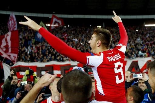 Niềm vui chiến thắng của Red Star Belgrade