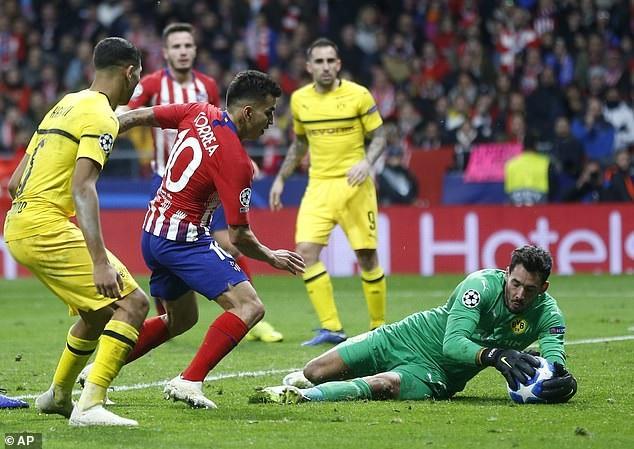Atletico áp đảo hoàn toàn về thế trận và tạo ra nhiều cơ hội