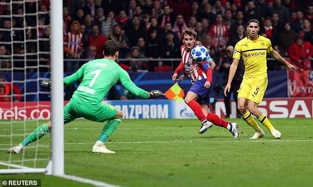 Atletico khao khát phục hận, sau thất bại cay đắng 0-4 trước Dortmund ở lượt đi