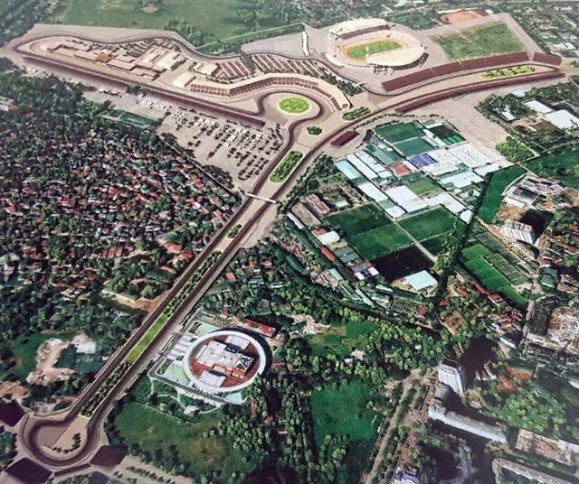 Khu vực dự kiến đường đua F1 tại Hà Nội