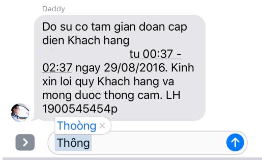 Lỗi khi gõ từ Thông bị biến thành Thoòng trên văn bản tiếng Việt.