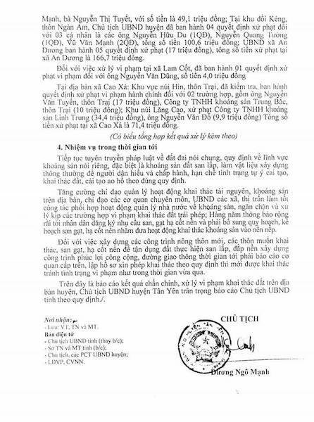 Phạt hành chính vài chục triệu đồng, giấu tên cán bộ sai phạm trong bản cáo cáo gửi Chủ tịch UBND tỉnh Bắc Giang.