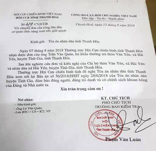 Hàng nghìn người dân tập hợp chữ ký xin giảm án cho nguyên chủ tịch xã tại Thanh Hoá! - 1