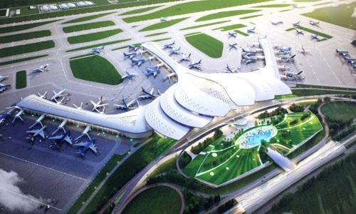 Phối cảnh sân bay Long Thành theo thiết kế hình hoa sen.