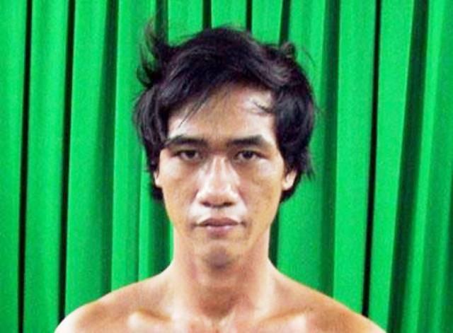 Nguyễn Giang Anh thời điểm bị bắt sau khi gây án. (Ảnh: CTV)