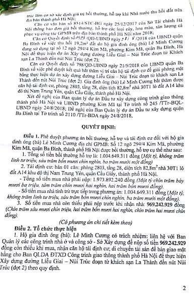 Hà Nội: Bị thu hồi đất, người dân phường Kim Mã đã được bố trí tái định cư phù hợp? - 2
