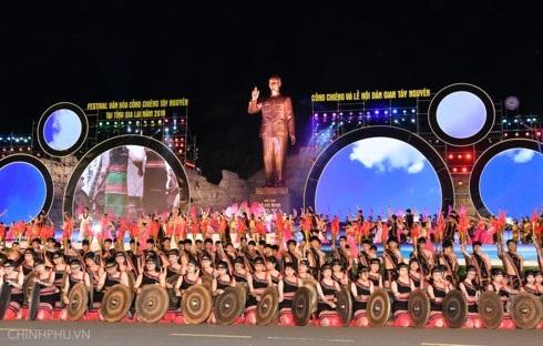 Lễ khai mạc Festival văn hóa cồng chiêng Tây Nguyên 2018. Ảnh: VGP/Quang Hiếu