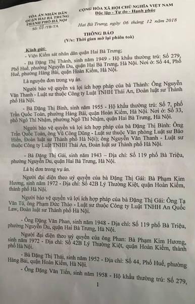"""Toà quận Hai Bà Trưng thêm một lần thông báo mở toà, cụ bà 76 tuổi """"ngao ngán""""! - 1"""