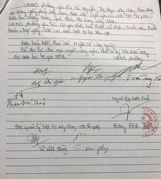 Ông Vũ Việt Hùng, cán bộ đội quản lý trật tự xây dựng đô thị đã đề nghị công trình xây dựng số 121 Bà Triệu tạm dừng thi công để giải quyết các nội dung đơn thư liên quan.