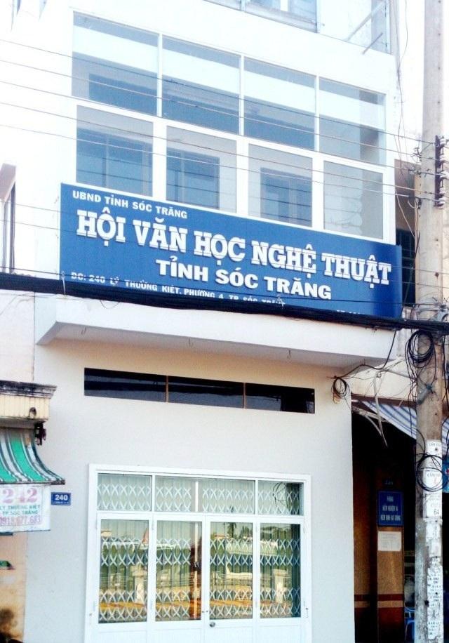 Hội VH-NT Sóc Trăng, nơi ông Trương Minh Châu làm Phó Chủ tịch.