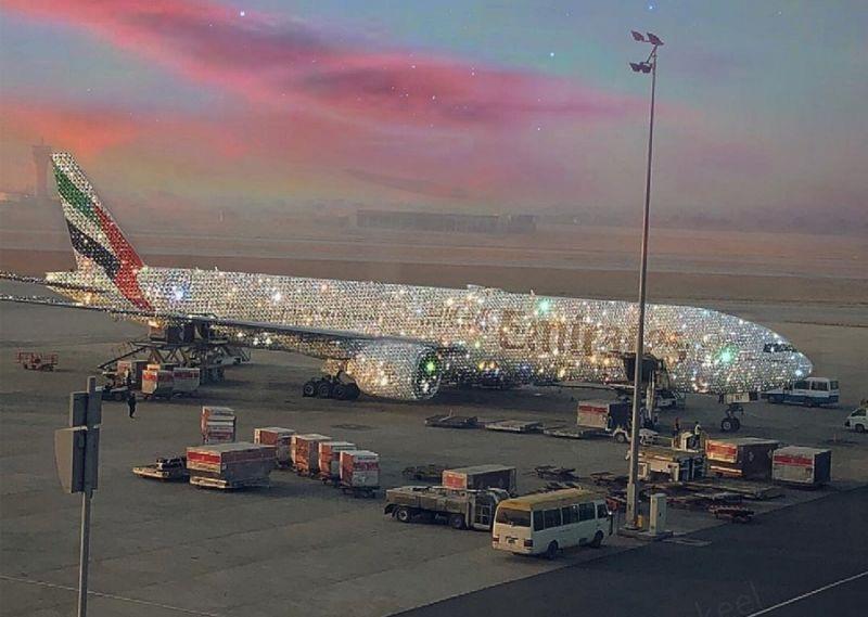 Dân tình xôn xao vì chiếc máy bay dát kín kim cương ở Dubai - Ảnh 1.