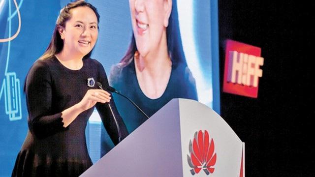 Giám đốc tài chính Huawei Mạnh Vãn Chu (Ảnh: Apple Daily)