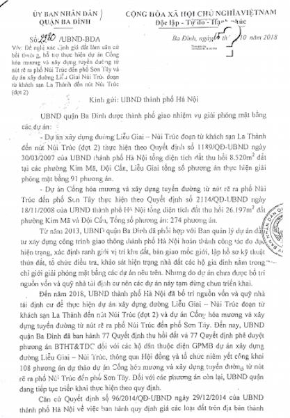 Hà Nội: UBND quận Ba Đình giải quyết khiếu nại, nhiều người dân không đồng thuận! - 4