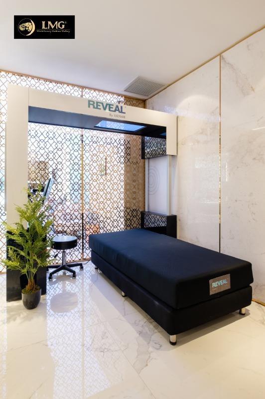 Máy Reveal đo sức ép của cơ thể để tìm được loại nệm phù hợp tốt cho sức khỏe và có giấc ngủ ngon.